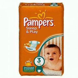 Pack 78 Couches Pampers Sleep & Play taille 3
