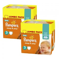 Giga pack 234 Couches Pampers Sleep & Play taille 3