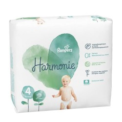Pack 28 Couches Pampers Harmonie taille 4 sur Couches Zone