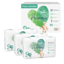 Pack 56 Couches Pampers Harmonie taille 4 sur Couches Zone