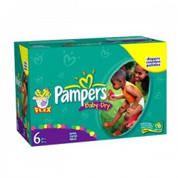 Giga pack 260 Couches Pampers Baby Dry taille 6