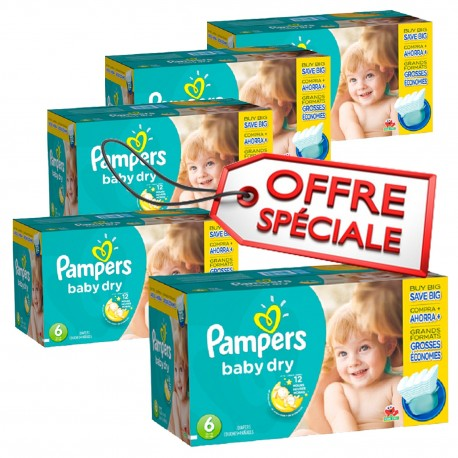 Maxi giga pack 312 Couches Pampers Baby Dry taille 6 sur Couches Zone