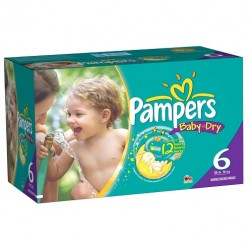 Maxi giga pack 364 Couches Pampers Baby Dry taille 6