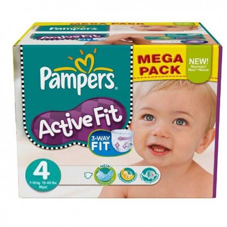 273 Couches Pampers Active Fit Taille 4 A Petit Prix Sur Couches Zone
