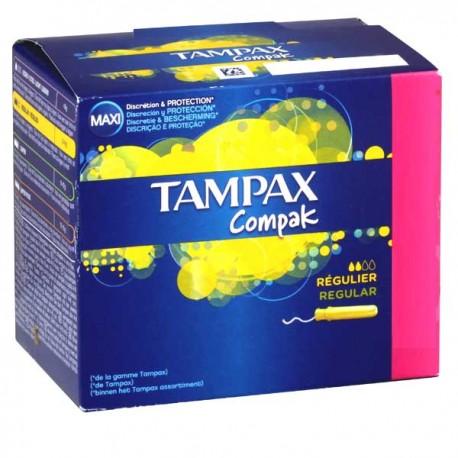 Compak - Pack 80 Tampons de Tampax taille regular avec applicateur sur Couches Zone