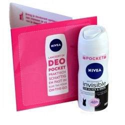 Invisible Black and White - Deodorant de Nivea taille Pocket sur Couches Zone