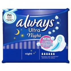 Ultra - Pack 12 Serviettes hygiéniques Always taille Night