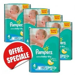 Giga pack 234 Couches Pampers Active Baby Dry taille 4 sur Couches Zone