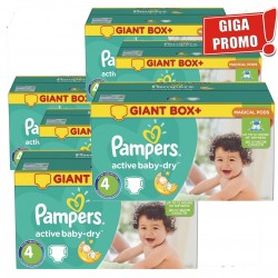 Giga pack 273 Couches Pampers Active Baby Dry taille 4