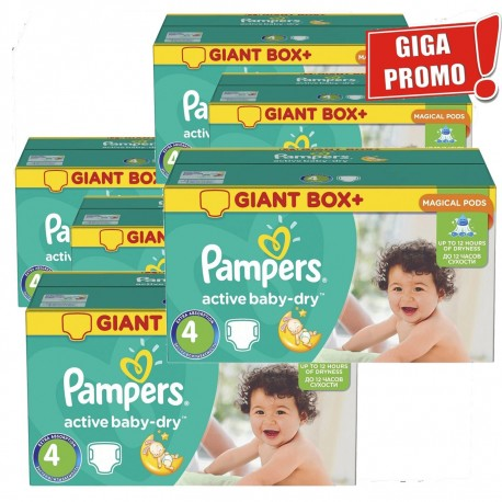 Giga pack 273 Couches Pampers Active Baby Dry taille 4 sur Couches Zone