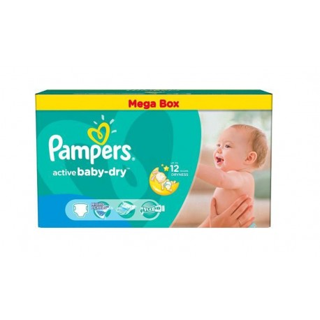 Pack jumeaux 559 Couches Pampers Active Baby Dry taille 4 sur Couches Zone