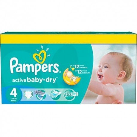 Pack jumeaux 585 Couches Pampers Active Baby Dry taille 4 sur Couches Zone