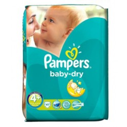 Baby Dry - Pack de 41 Couches Pampers taille 4+