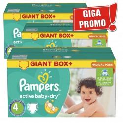 Pack 98 Couches Pampers Active Baby Dry taille 4 sur Couches Zone