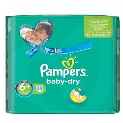 Baby Dry - Pack 38 Couches Pampers taille 6+ sur Couches Zone