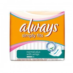 Simply Fits - Maxi Pack de 144 Serviettes hygiéniques Always taille normal plus sur Couches Zone