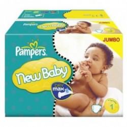 Pack jumeaux 648 Couches Pampers New Baby Premium Protection taille 1 sur Couches Zone
