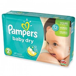 Maxi giga pack 363 Couches Pampers Baby Dry taille 2 sur Couches Zone