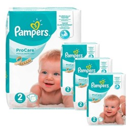 Pack jumeaux 612 Couches Pampers ProCare Premium protection taille 2 sur Couches Zone