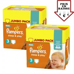 Maxi mega pack 492 Couches Pampers Sleep & Play taille 3 sur Couches Zone