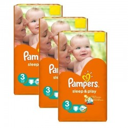 Pack jumeaux 738 Couches Pampers Sleep & Play taille 3 sur Couches Zone