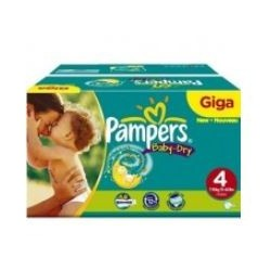 Pack jumeaux 858 Couches Pampers Baby Dry taille 4 sur Couches Zone