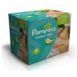 Pack jumeaux 936 Couches Pampers Baby Dry taille 4 sur Couches Zone