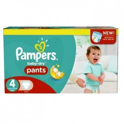 Pack 92 Couches Pampers Baby Dry Pants taille 4 sur Couches Zone