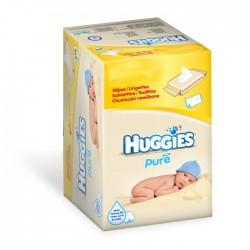 Pure - Giga Pack 560 Lingettes Bébés Huggies sur Couches Zone