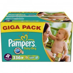 Baby Dry - Giga Pack 336 Couches Pampers taille 4+