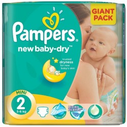 New Baby Dry - Pack 80 Couches Pampers taille 2