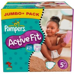 Active Fit - Giga Pack 174 Couches de Pampers taille 5+