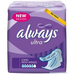 Ultra - Pack de 12 Serviettes hygiéniques d'Always taille LongPlus
