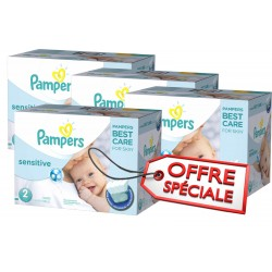 New Baby Sensitive - Maxi Giga Pack Jumeaux de 540 Couches Pampers taille 2 sur Couches Zone