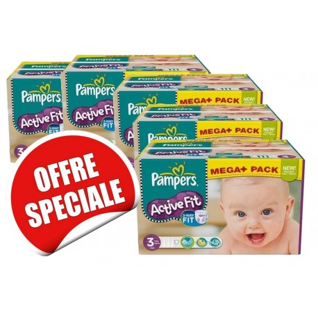Active Fit - Giga Pack 615 Couches Pampers taille 3 sur Couches Zone