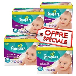 Active Fit - Giga Pack de 560 Couches de Pampers taille 3+