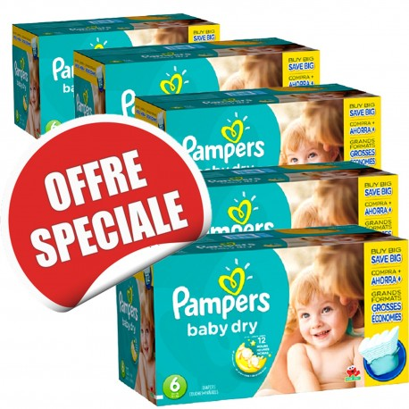 627 Couches pampers baby dry taille 6 moins cher sur couches zone on