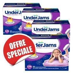 Maxi giga pack 200 Couches Pampers Underjams - pour Filles taille S/M sur Couches Zone