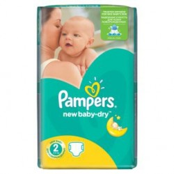 Paquet 68 Couches Pampers New Baby Dry taille 2 sur Couches Zone