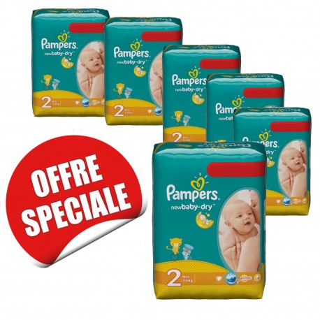 New Baby Dry - Maxi giga pack jumeaux de 952 Couches Pampers taille 2 sur Couches Zone