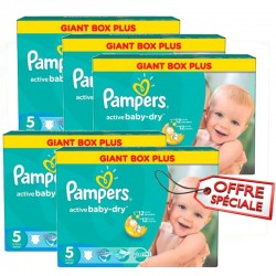 Active Baby Dry - Maxi giga pack de 448 Couches de Pampers taille 5 sur Couches Zone