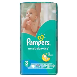 Active Baby Dry - Pack de 74 Couches de Pampers taille 3 sur Couches Zone