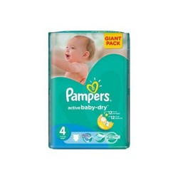 Active Baby Dry - Pack 76 Couches Pampers taille 4 sur Couches Zone