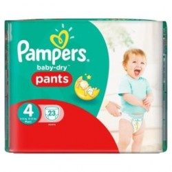 Baby Dry Pants - Pack de 23 Couches de Pampers taille 4
