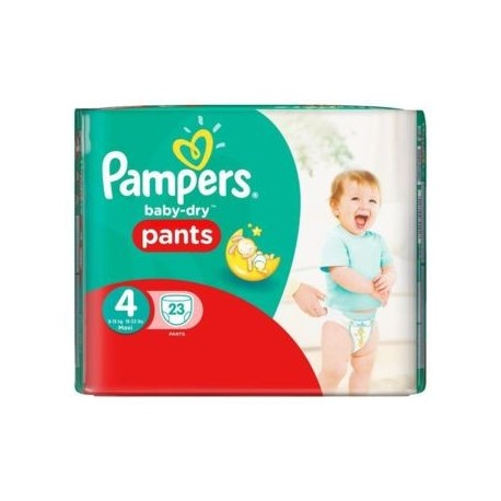 Baby Dry Pants - Pack de 23 Couches de Pampers taille 4 sur Couches Zone