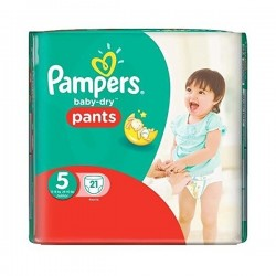 Baby Dry Pants - Pack de 21 Couches Pampers taille 5 sur Couches Zone