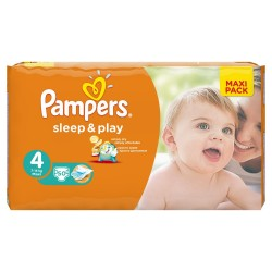Sleep & Play - Pack 50 Couches Pampers taille 4 sur Couches Zone