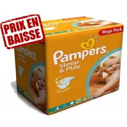 Sleep & Play - Mega Pack économique de 250 Couches de Pampers taille 4 sur Couches Zone