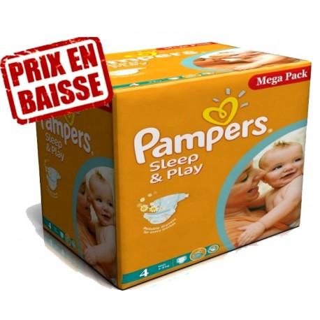 Sleep & Play - Mega Pack économique de 14 Couches de Pampers taille 4 sur Couches Zone