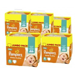 Sleep & Play - Pack économique 550 Couches Pampers taille 4 sur Couches Zone